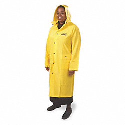 Raincoat with Detachable Hood, Yellow, XL