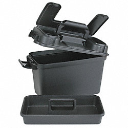 Dry Storage Box, L 13 In, W 6 3/4 In, Black