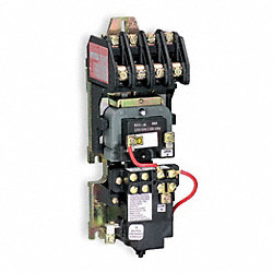 Light Contactor, Mech, 120VAC, 30A, Open, 4P