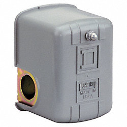 Pressure Switch, 50-30PSI, 1Port, SPST, 10A