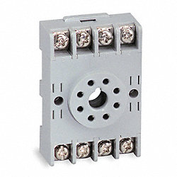 Socket, Relay, 8 Pins