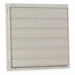 Fan Shutter, 24 In, Beige Fiberglass