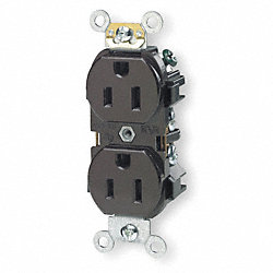 Iso.Grnd Receptacle, IndGrade, 5-15R, Brown