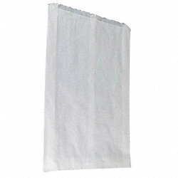Paper Bag, White, 3 In., PK 500