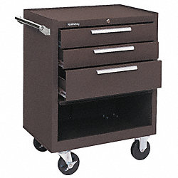 Tool Cabinet, 3 Dr, 27x18x35, Brown