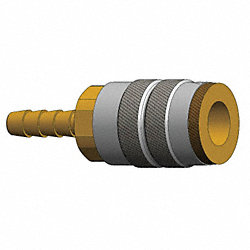 Coupler , Steel, 1/2 In Barb, 1/2 Body