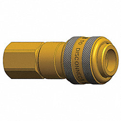 Coupler , Brass, 1/2 FNPT, 1/2 Body