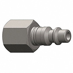 Coupler Plug, 303SS, 1/4 FNPT, 1/4 Body