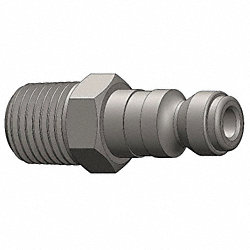 Coupler Plug, Steel, 1/4 MNPT, 1/4 Body