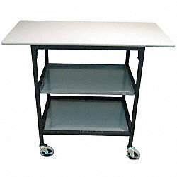 Adjustable Mobile Work Table, 40 In. L