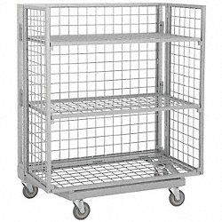Nesting Wire Cart, 25 In. W, 58 In. L