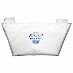 Flat Fold Disposable Respirator, N95, PK 5