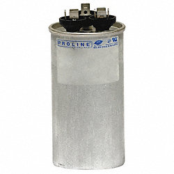 Run Capacitor, 35/7.5 MFD, 440 VAC, Rnd