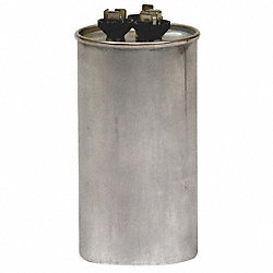 Run Capacitor, 60/5 MFD, 370 VAC, Round