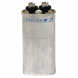 Run Capacitor, 50 MFD, 440 VAC, Round