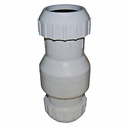 Full Flow Check Valve, 3 In, Compress, PVC