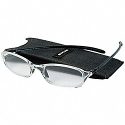 Reading Glasses, +1.5, Clear, Acrylic