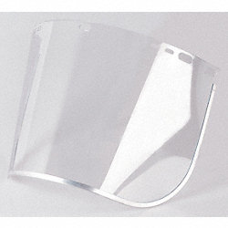 Faceshield Visor, Plycrb, AlBd, Cl, 8x15-1/2