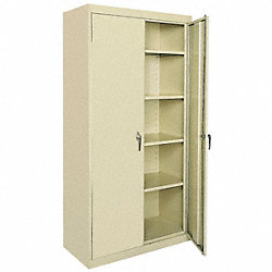 Storage Cabinet, Welded, Beige