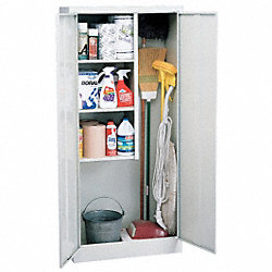 Janitorial Storage Cabinet, Dove Gray