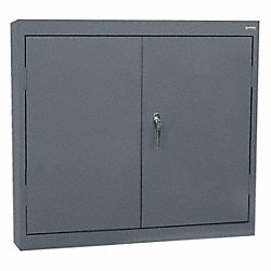 Wall Mount Storage Cabinet, Charcoal