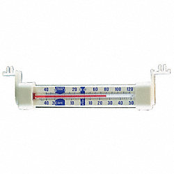 Thermometer, Horiz, Snap, -40 to 120F, NSF