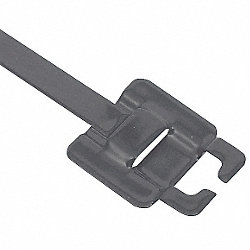 Zip Tie, Coated SS , 1/4 x 18 In, Pk 50