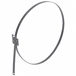 Zip Tie, Coated SS , 1/4 x 24 In, Pk 50