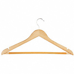 Wood Suit Hanger, Maple, Pk 24