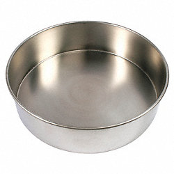 Sieve Bottom Pan, SS, 12 In Dia, 3 In Deep