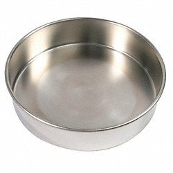 Sieve Bottom Pan, SS, 8 In Dia, 2 In Deep