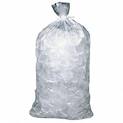 Ice Bag, 28x13-1/2 In., 1.70 mil, Pk500