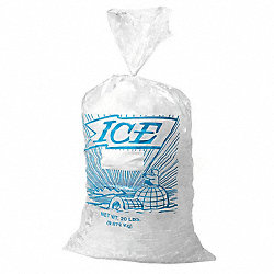 Ice Bag, 18x9 In., 1.20 mil, Pk1000