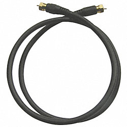 RG6 Black Coax Cable, 3 ft, 18 AWG