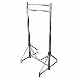 Coat Rack, Floor Stand, Dbl, 72 In W