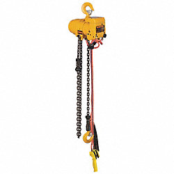 Air Chain Hoist, 6000 lb. Cap., 20 ft. Lft