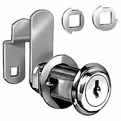 Disc Tumbler Cam Lock, Nickel, Key C420A
