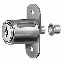 Sliding Door Lock, Nickel, Key C413A