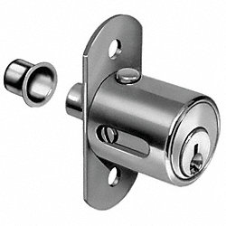 Sliding Door Lock, Chrome, Key 915