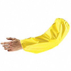Sleeves, 18 In. L, Neoprene, Yellow, PR