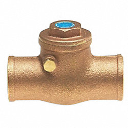 Check Valve, Low Lead, 1/2 In, Sweat, Bronze