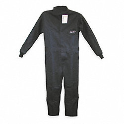 Flame-Resistant Coverall, Navy, 2XL, HRC2