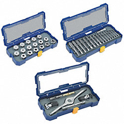 Tap & Die Set, M3-M12, #4-1/2 In, 75 Pc