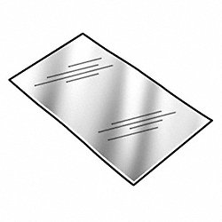 Shim Stock, Sheet, PVC, 0.0075In, Matte, PK10