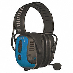 Electronic Ear Muff, 25dB, Over-the-H, Bl