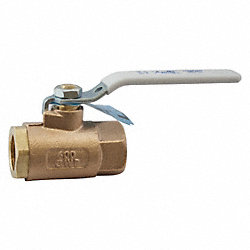 Ball Valve, 1/2 In, FNPTxFNPT, Lead-Free