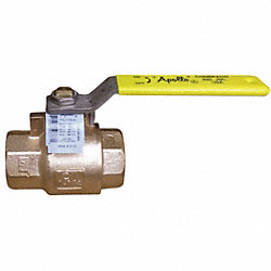 Ball Valve, 1-1/4 In, FNPTxFNPT, Lead-Free