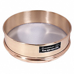 Sieve, 8 In, Brass Frame, SS Mesh, No. 40