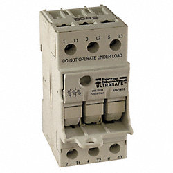 Fuse Holder, 30A AC, 600V, 3Pole, FingerSafe