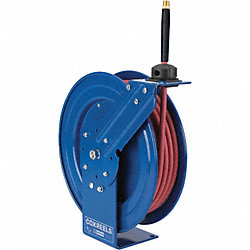 Hose Reel, Spring Return, 3/8In ID x 25 Ft